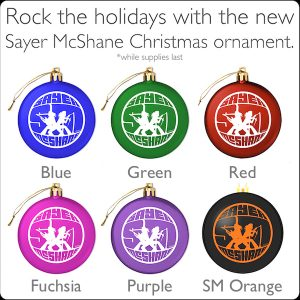 Sayer McShane Holiday Ornaments - $12.95