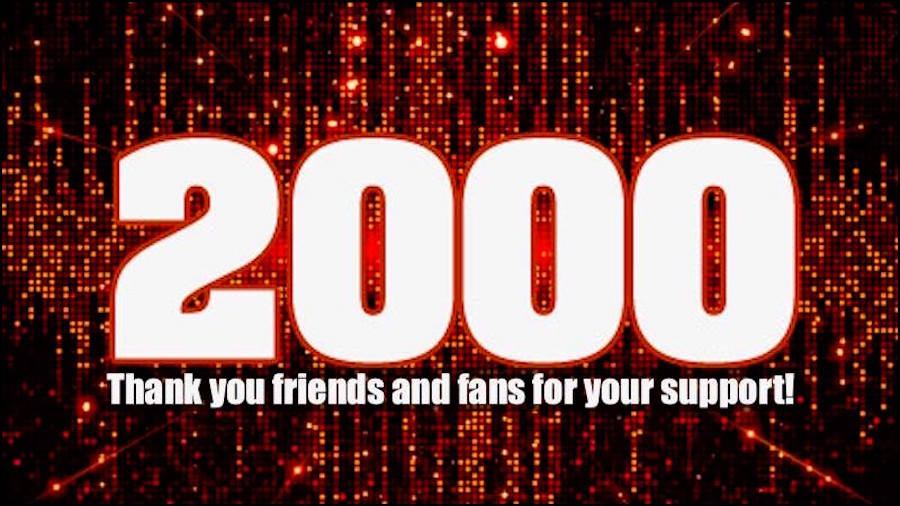 Sayer McShane reaches 2000 LIKES on our facebook band page! Thanks everyone!