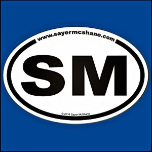 Sayer McShane Classic Euro Oval Sticker - $4.95