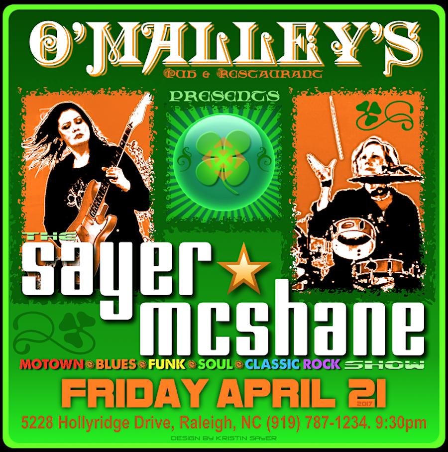 Sayer McShane at O'Malley'Pub - Raleigh, NC