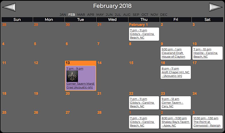 Sayer McShane February Concert Schedule
